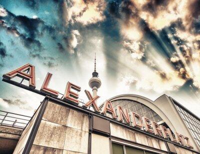 Obraz Železniční stanice Alexanderplatz v Berlíně - Německo