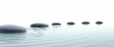 Obraz Zen cesta kamenů v širokoúhlém formátu