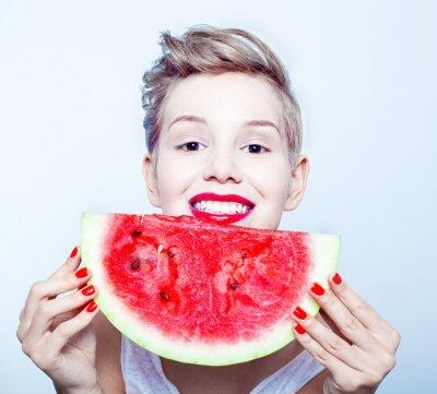 Obraz žena a meloun