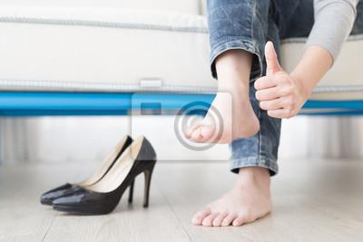 Obraz Žena atletická noha