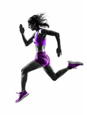 Obraz Žena běžec běží běžec běhání silueta