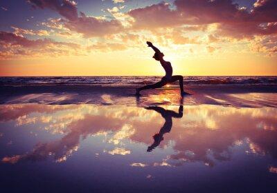 Obraz žena cvičit jógu