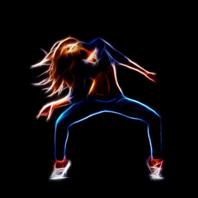 Obraz Žena hip hop tanečnice