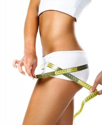 Obraz Žena měření dokonalý tvar krásné boky