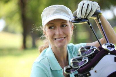 Obraz Žena na golfovém hřišti