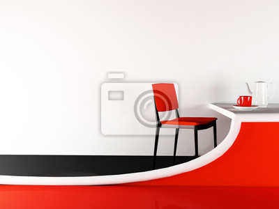 židle a kreativní tabulka