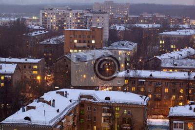 Zimní panoráma města.