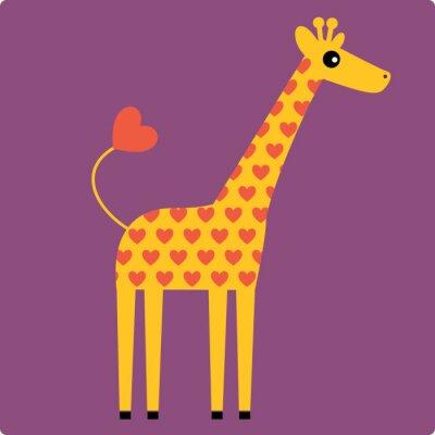 Obraz žirafa vektor