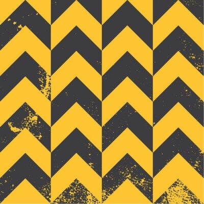 Obraz žlutá Chevron vzor s nouzovou texturou