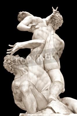 Obraz Znásilnění Sabine žen Giambologna lodžie na náměstí Piazza della Signoria, Florencie, Itálie