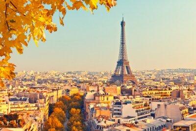 Obraz Zobrazit na Eiffelovy věže při západu slunce