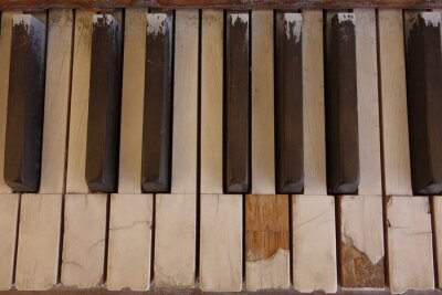 Obraz Zvětralé slonovinové klávesy klavíru