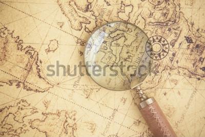 Obraz Zvětšovací sklo, mapy, finance, obchod, cestovní ruch, průzkum