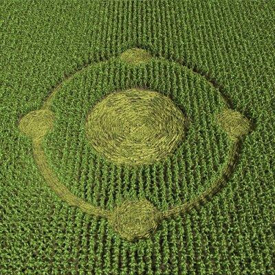 Plakát 3d ilustrace kruhu v obilí