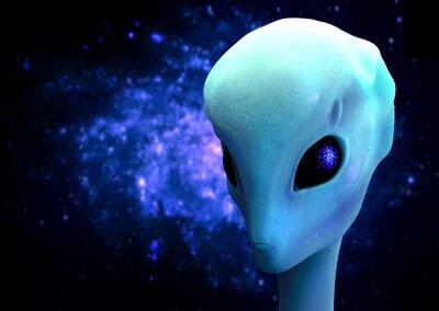 Plakát 3d render cizince, mimozemskou návštěvníka