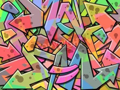 Plakát A Colorful Graffiti Background