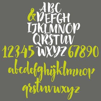 Plakát Abeceda dopisy: malá, velká písmena a číslice.