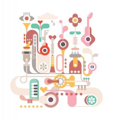 Plakát Abstract Music