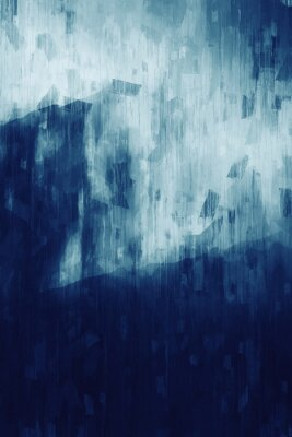 Plakát Abstract painting in monotone, digital illustration