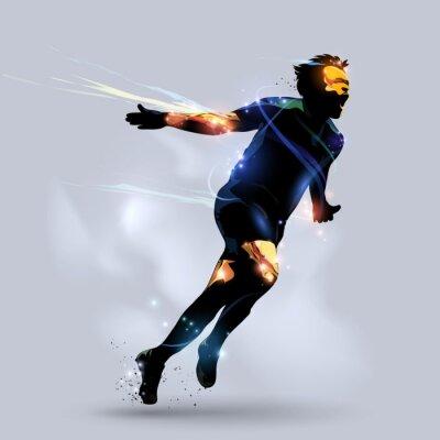 Plakát abstract soccer celebrating goal