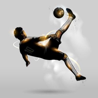 Plakát abstract soccer overhead kick