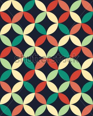 Plakát Abstractní geometrické boky móda polštář kruhy vzor