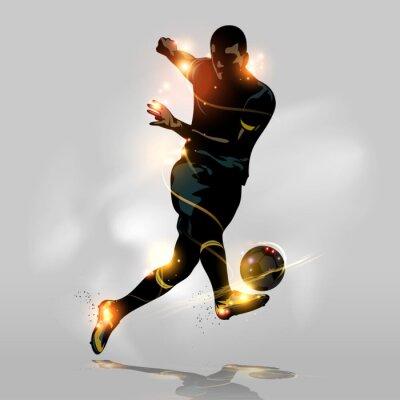 Plakát Abstrakt fotbal rychlá střelba