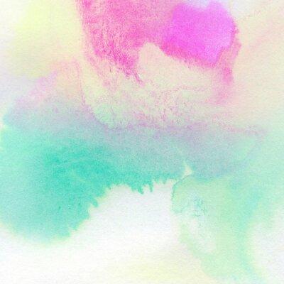 Plakát Abstraktní barevné akvarel malované pozadí