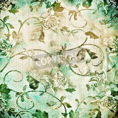 Plakát Abstraktní starý pozadí s grunge textury. Pro umění textury, grunge design a vintage papír nebo hraniční rám
