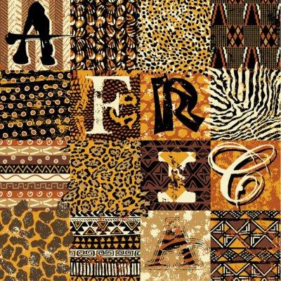 Plakát Africkém stylu vektoru tapety