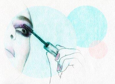 Plakát akvarel ilustrace