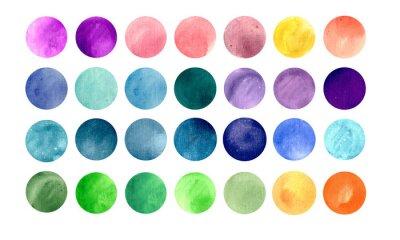 Plakát Akvarel kruh textury. Mega-pack užitečné pro vás přetáhnout