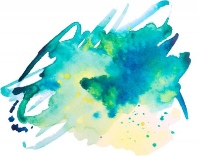 Plakát akvarel skvrna, pozadí, izolovaných na bílém pozadí