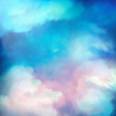 Plakát Akvarel Sky Vector Background
