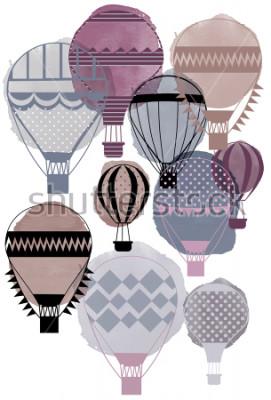 Plakát Akvarel vektorové balónky