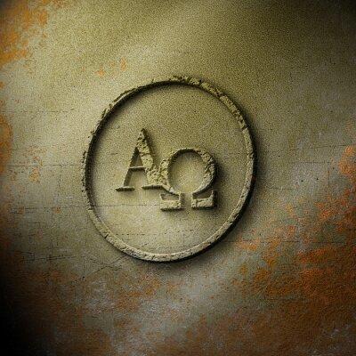 Plakát Alpha Omega - Siegel - verwittert