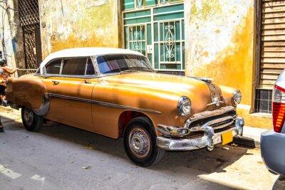 Plakát Americké a sovětské vozy 1950 - 1960 z Havany.