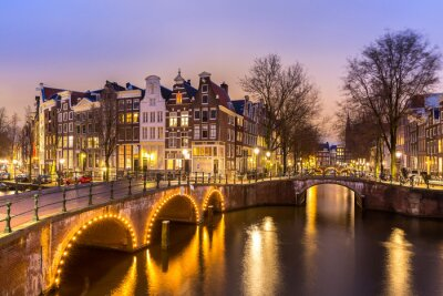 Plakát Amsterdam Kanály