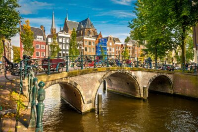 Plakát Amsterdam panoráma města
