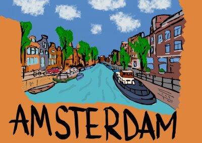 Plakát Amsterodam