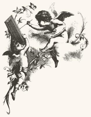 Plakát Andělé - greytones
