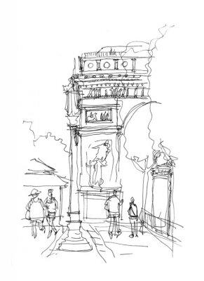 Plakát Arc de Triomphe skica