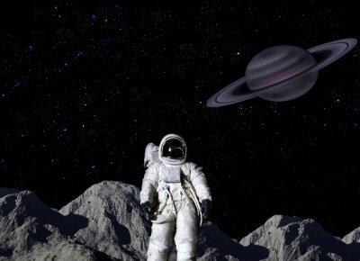 Plakát Astronaut na povrchu Měsíce