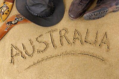 Plakát Austrálie pozadí