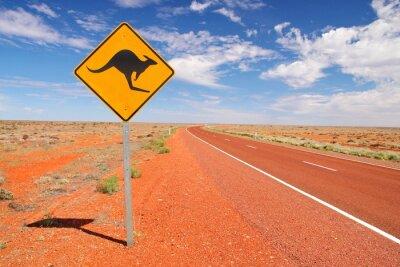 Plakát Australské nekonečné silnice