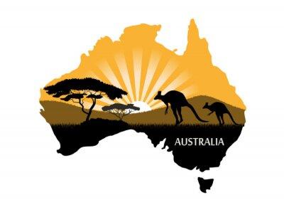 Plakát Australský kontinent
