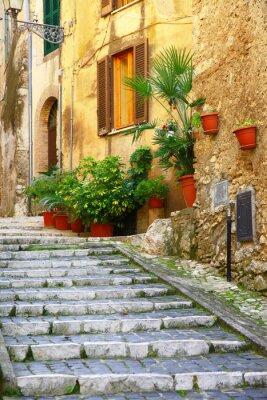 Plakát autentické středověké vesnice Itálie - Casperia