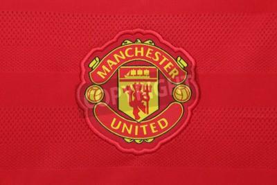 Plakát BANGKOK, Thajsko - 21.srpna 2015: Manchester United fotbalový klub na oficiální dres klubu srpna 21,2015 v Bangkok Thajsko. Red Devils je připraven pro příští sezónu