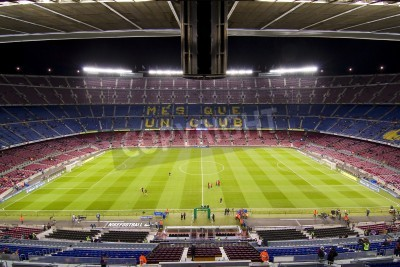 Plakát BARCELONA - DECEMBER 16: View of Camp Nou stadium before the Spanish League match between FC Barcelona and Atletico de Madrid, final score 4 - 1, on December 16, 2012, in Barcelona, Spain