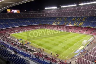 Plakát BARCELONA - PROSINEC 16: Pohled na Camp Nou stadionu před zápasem španělské ligy mezi FC Barcelona a Atlético de Madrid, konečné skóre 4-1, 16. prosince 2012 v Barceloně, ve Španělsku